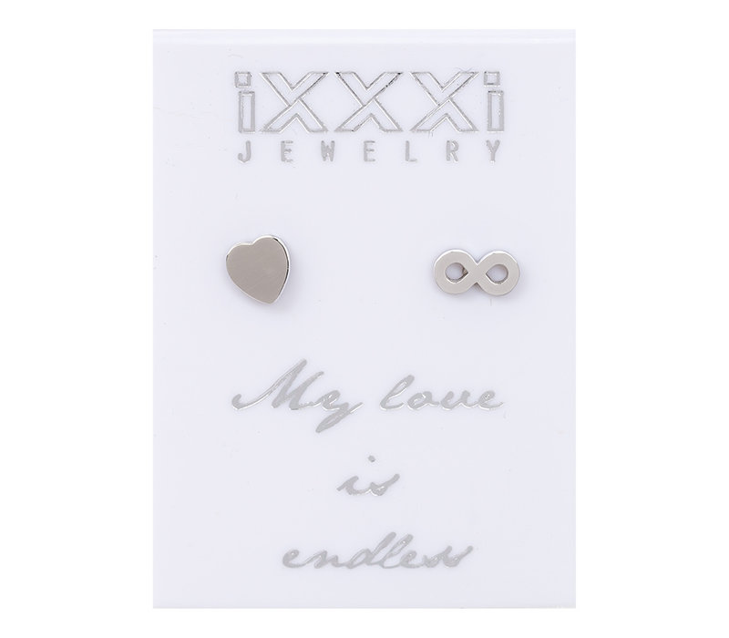 iXXXi Ohrstecker My love is endless silber