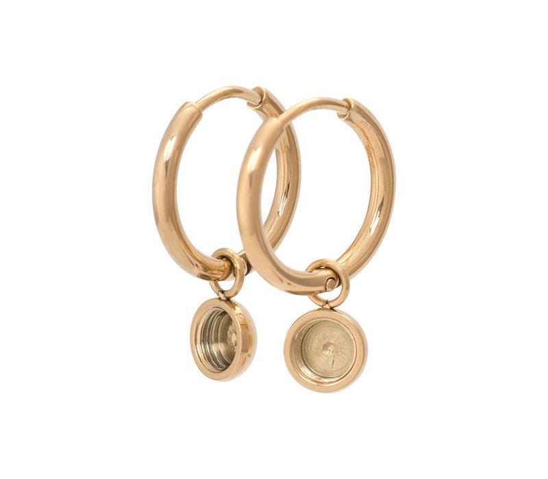 iXXXi Ohrringe Creolen 15 mm gold