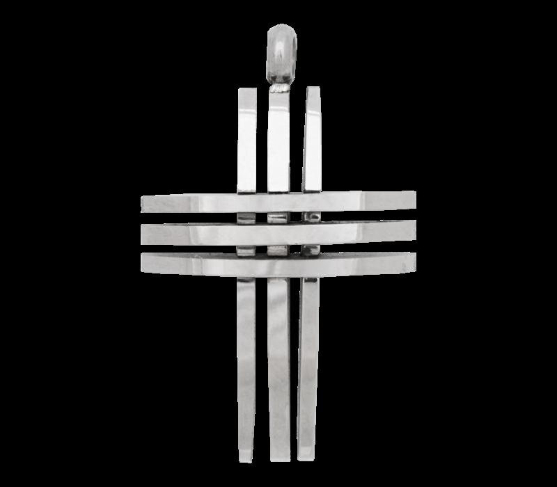 iXXXi Herren Kettenanhänger Cross open silber
