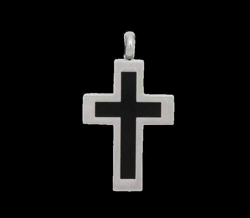iXXXi Herren Kettenanhänger Cross schwarz