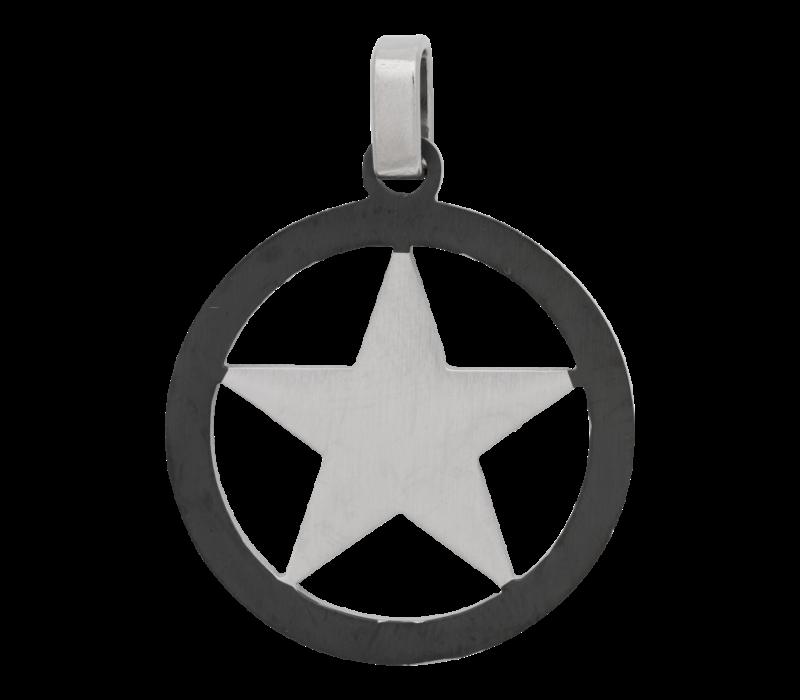 iXXXi Herren Kettenanhänger Star silber