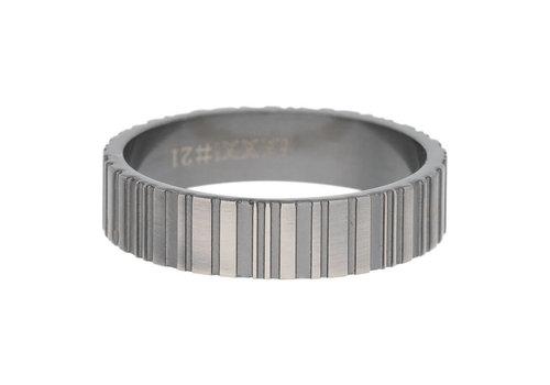 iXXXi Herren Füllring 6 mm Barcode silber