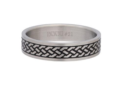 iXXXi Herren Füllring 6 mm Tribal silber