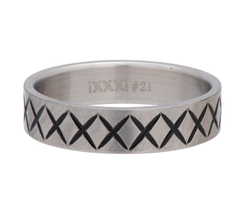 iXXXi Herren Füllring 6 mm Cross Line silber