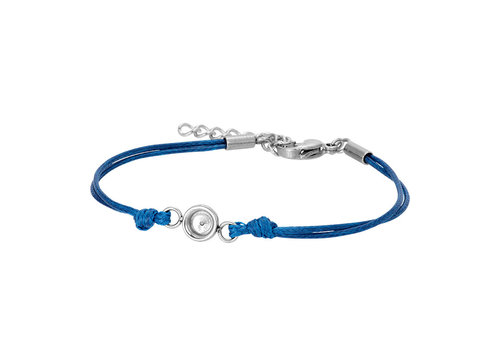 iXXXi Armband Top Part Base 'Wax Cord' blau