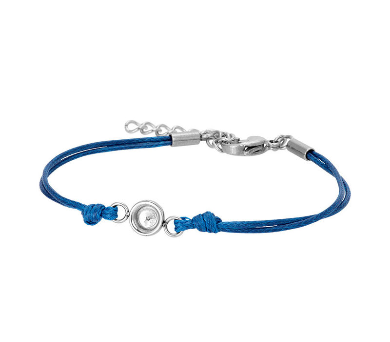 iXXXi Fußkettchen Top Part Base 'Wax Cord' blau