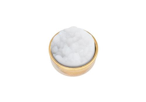 iXXXi Top Part Drusy Weiß gold