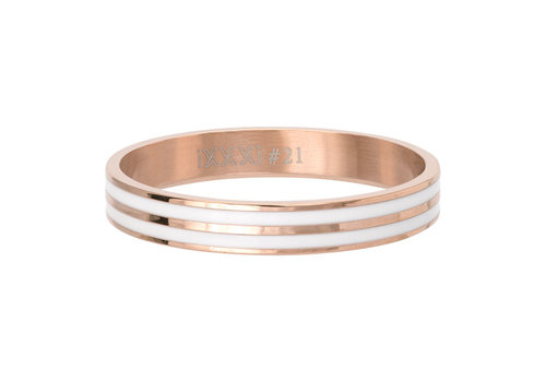 iXXXi Füllring 4 mm Double Line White rosegold
