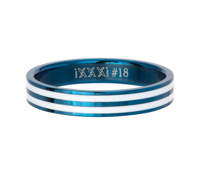 iXXXi Füllring 4 mm Double Line White blau