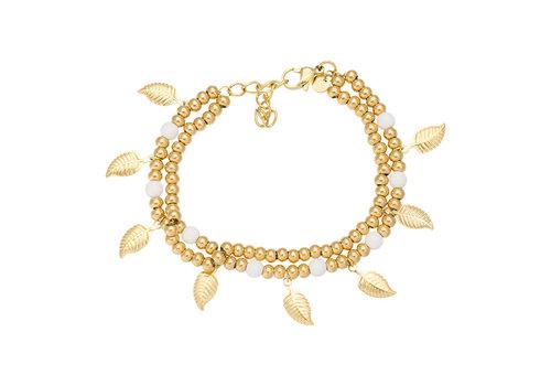 iXXXi Fußkettchen Dazzling Leaves gold