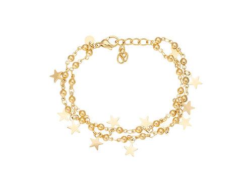 iXXXi Fußkettchen Dazzling Stars gold