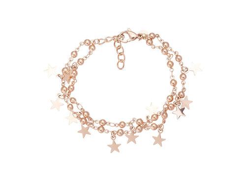 iXXXi Fußkettchen Dazzling Stars rosegold