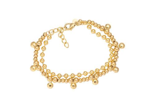 iXXXi Fußkettchen Dazzling Circles gold