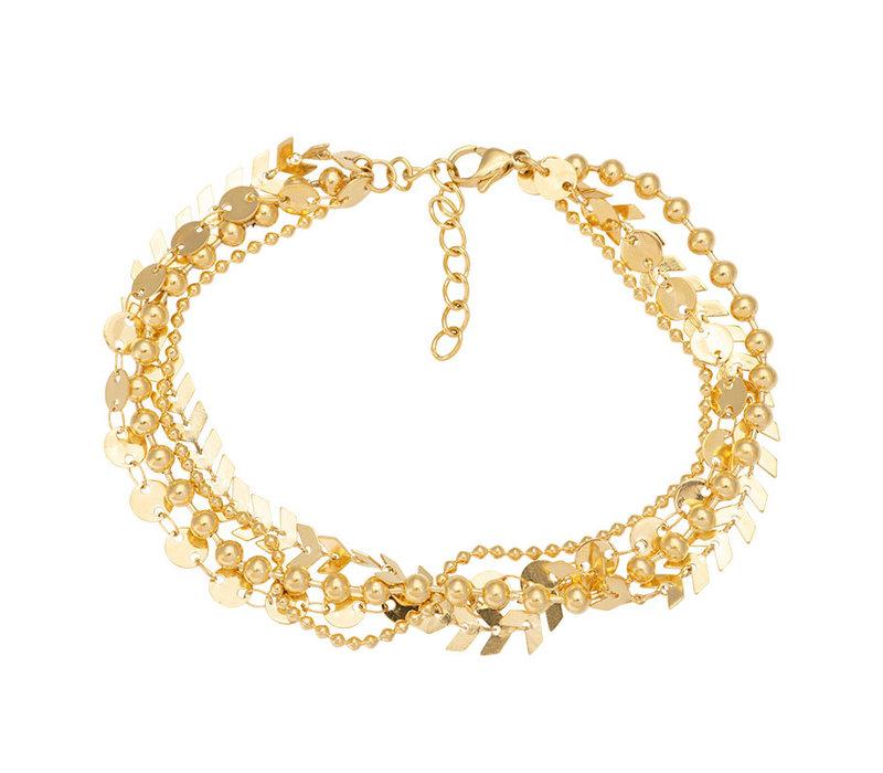 iXXXi Fußkettchen Arrow Chain gold