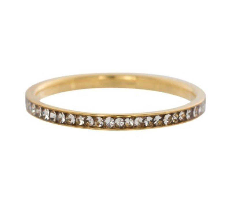 iXXXi Füllring 2 mm Zirkonia Kristall gold