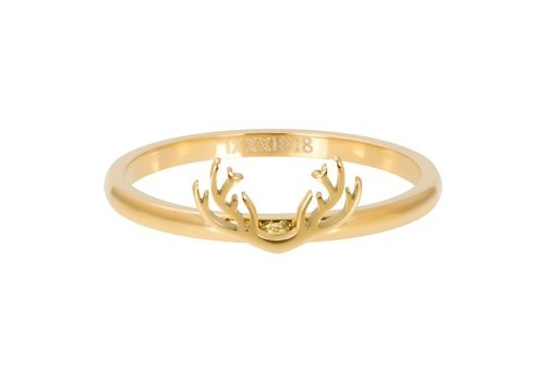 iXXXi Füllring 2 mm Symbol antlers gold