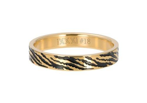 iXXXi Füllring 4 mm Zebra gold