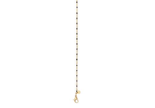 iXXXi HalsketteNecklace Black beads 50+5cm gold