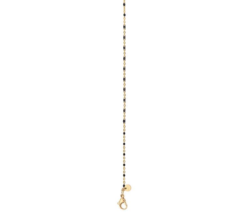 iXXXi Halskette Necklace Black beads 50+5cm gold
