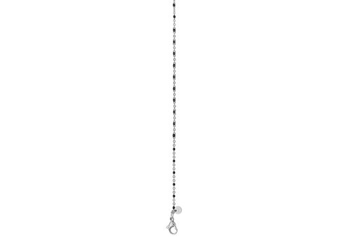 iXXXi Halskette Necklace Black beads silber 50+5cm
