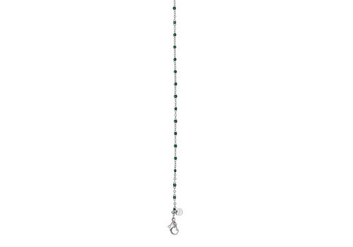 iXXXi Halskette Necklace Green beads 50+5cm silber