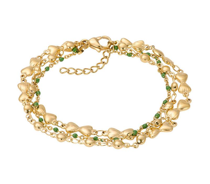 iXXXi Armband Bracelets Botswana gold-grün