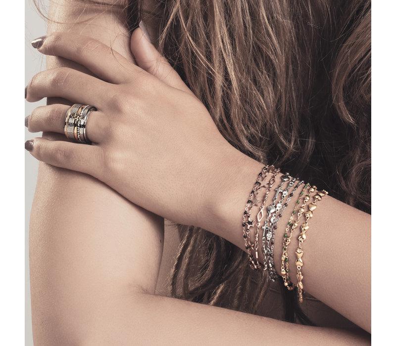 iXXXi Armband Bracelets Botswana rosegold-grün