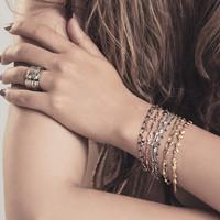 iXXXi Armband Bracelets Botswana silber-grün
