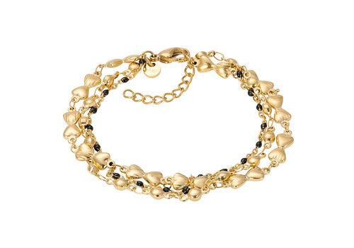 iXXXi Armband Bracelets Botswana gold-schwarz