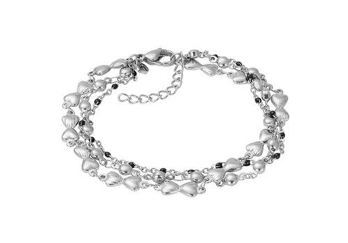 iXXXi Armband Bracelets Botswana silber-schwarz