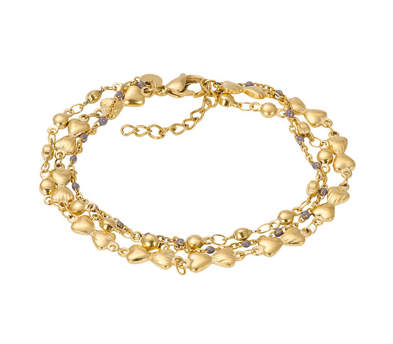 iXXXi Armband Bracelets Botswana gold-grau