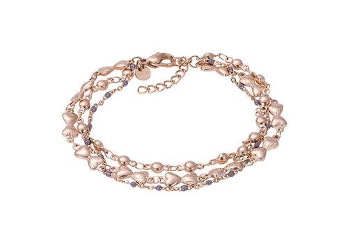 iXXXi Armband Bracelets Botswana rosegold-grau