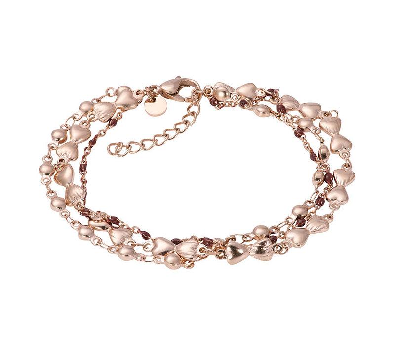 iXXXi Armband Bracelets Botswana rosegold-braun