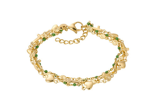 iXXXi Armband Bracelets Ghana gold-grün