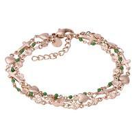 iXXXi Armband Bracelets Ghana rosegold-grün
