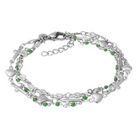 iXXXi Armband Bracelets Ghana silber-grün