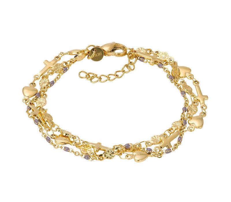 iXXXi Armband Bracelets Ghana gold-grau