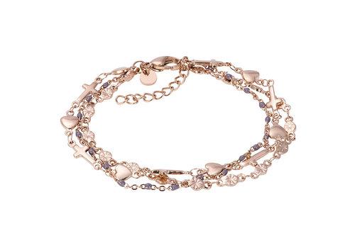 iXXXi Armband Bracelets Ghana rosegold-grau