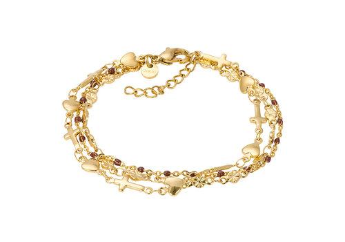 iXXXi Armband Bracelets Ghana gold-braun