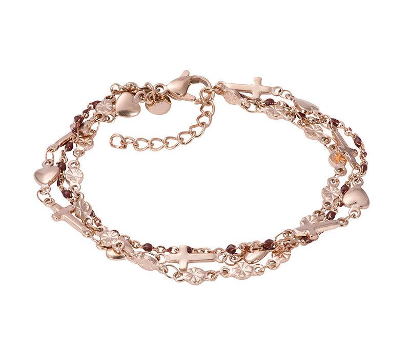 iXXXi Armband Bracelets Ghana rosegold-braun
