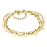 iXXXi Armband Bracelets Kenya gold-grün