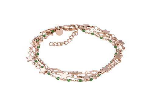 iXXXi Armband Bracelets Kenya rosegold-grün