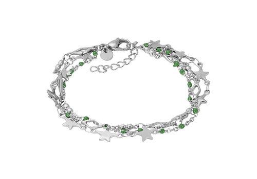 iXXXi Armband Bracelets Kenya silber-grün