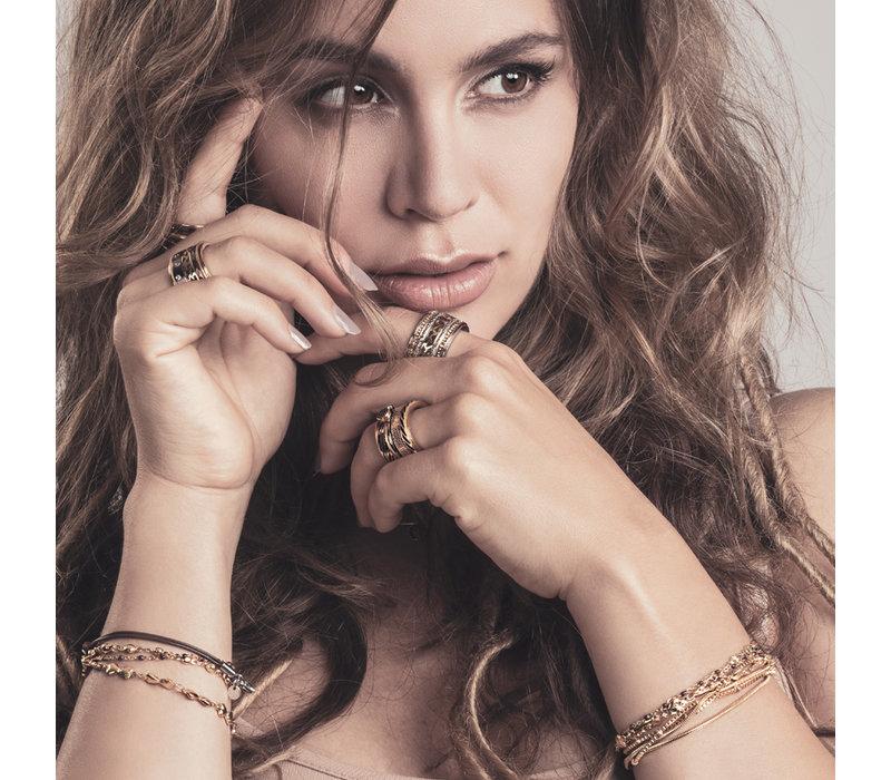 iXXXi Armband Bracelets Kenya gold-schwarz