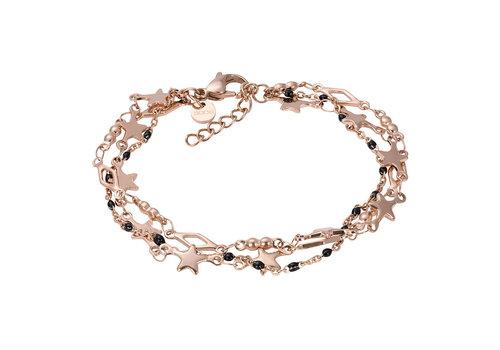 iXXXi Armband Bracelets Kenya rosegold-schwarz