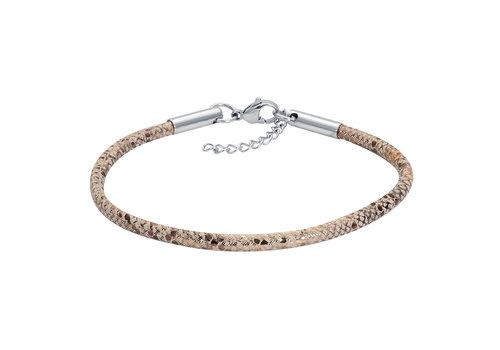 iXXXi Armband Brace Schlangenprint silber