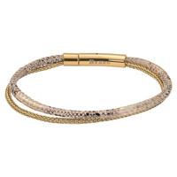iXXXi Armband Brace doppelt Schlangenprint gold