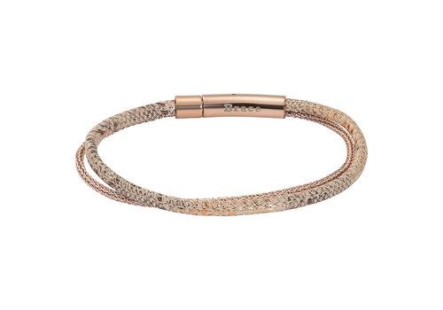 iXXXi Armband Brace doppelt Schlangenprint rosegold