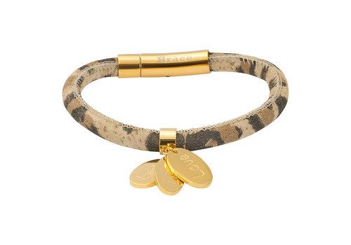 iXXXi Armband Brace Leoprint gold