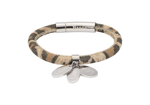 iXXXi Armband Brace Leoprint silber